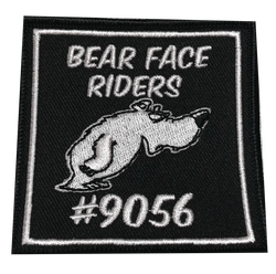 9056 Bear Face Riders Patch