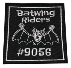 9056 Bat Wing Riders Patch